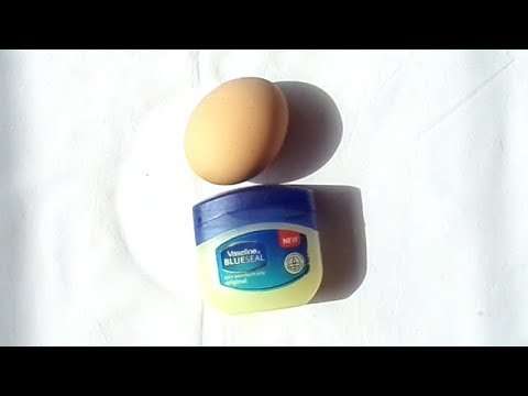 NO JOKES USE VASELINE AND EGG SEE HOW YOUR FACE WILL CHANGE IN 1 NIGHT