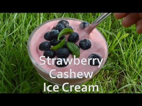 Instant Strawberry Cashew Ice Cream