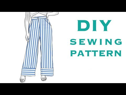 Design a Pattern for Striped Palazzo Pants
