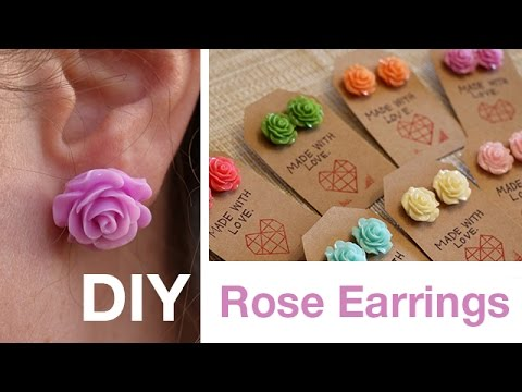 DIY Rose Earrings | ArtsyPaints