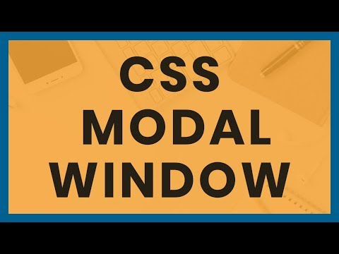 CSS Modal Window - Responsive Popup box with HTML & CSS Flexbox - No Javascript - Video Tutorial