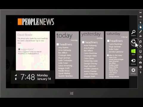 PeopleNews - Windows 8 app