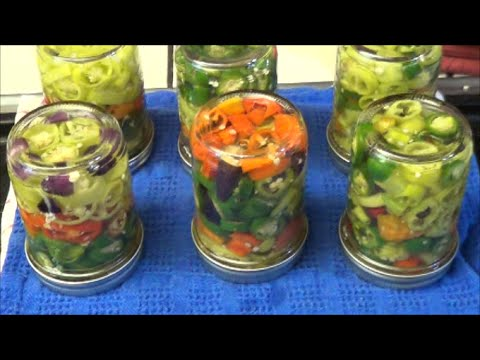 Fridge Style Pickled Peppers