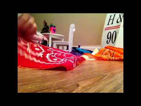 How to make an American girl doll pillow! No sow! No hot glue!  Part 1