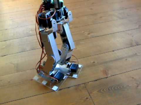 Build own biped robot without a kit, using Arduino
