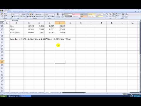 Nonparallel Lines Regression Analysis Using Excel 2007