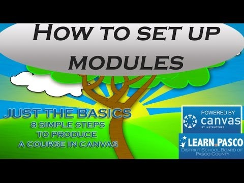 4 How to set up course Modules in Canvas