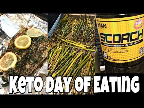 Keto Full Day of Eating | Salmon & Parmesan Asparagus | Quick & Easy