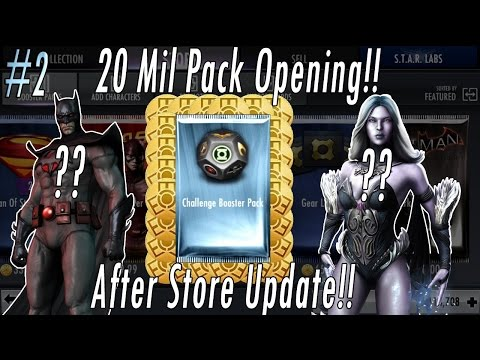 Buying 20 MILLION Credits/Coins NEW Challenge Packs Opening Injustice Flashpoint & Animated Batman?!