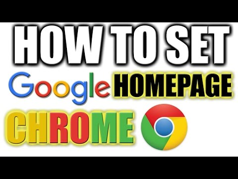 How to Set Google As Homepage on Google Chrome - Default Google