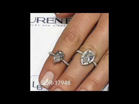 Pear Shape Engagement Ring Designs