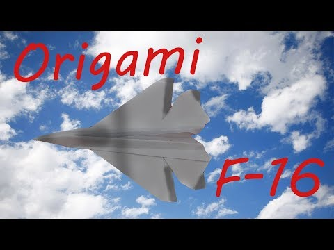 REMAKE: How to Fold an Origami F-16 Paper Airplane 2.0