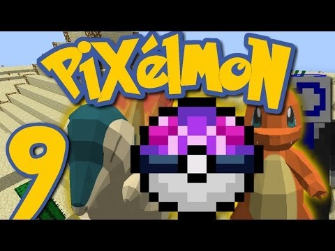 Pixelmon Ep. 9 - MASTER BALL AND FIRE STARTERS! (Minecraft Pokemon Mod)