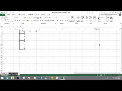 Excel filter error. When not working