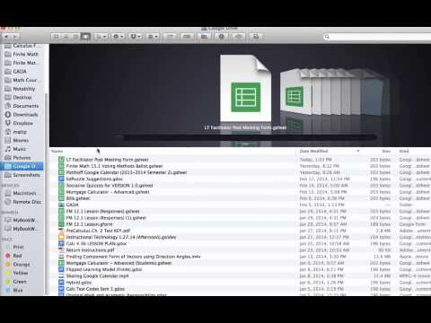 IT 2 24 14 Google Drive for Mac   4  Preferences, Selecting What to Sync, and Sharing