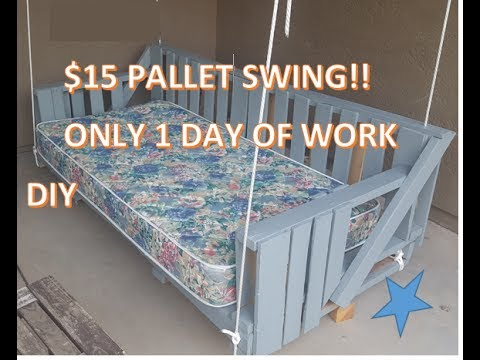DIY Wood Pallet Swing Project. Cost me only $15 and took 1 day!!