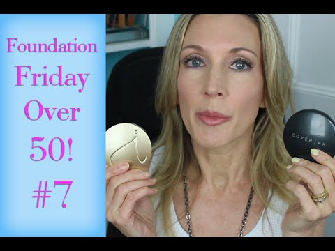 Foundation Friday for Over 50 #7 |  Cover FX vs Jane Iredale