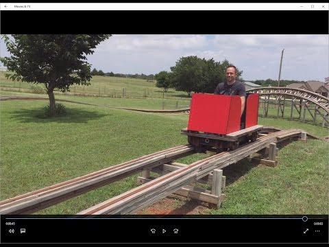 Oklahoma Land Run Backyard Roller Coaster HD