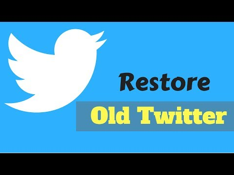 How to Restore The Old Twitter Layout Design