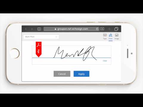 How to Sign Your Groupon Merchant Agreement on a Mobile Device
