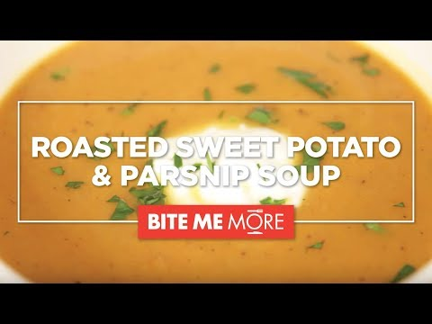 HEALTHY SOUP RECIPE - Roasted Sweet Potato and Parsnip Soup