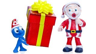 CLAY MIXER: RETURNING SANTA CHRISTMAS GIFT 💖 Play Doh Cartoons For Kids