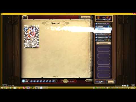 Auto Hearthstone Deck Builder Demo [Real Time Playback!]