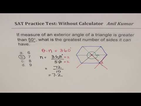 New SAT Math Strategy with Thinking Examples