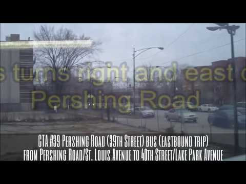 CTA #39 Pershing Rd. (39th St.) bus (EB trip) from Pershing/St. Louis to 40th/Lake Park 2 (01-03-17)
