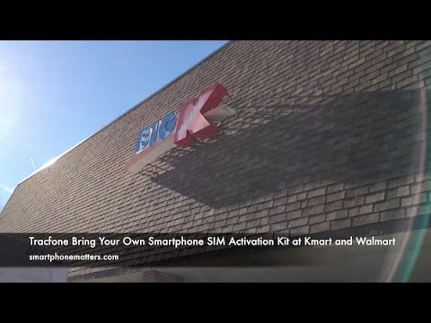 Tracfone Bring Your Own Smartphone SIM Activation Kit at Kmart and Walmart