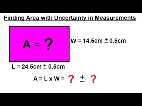 Physics - Chapter 0: General Intro (6 of 20) Finding Area with Uncertainty in Measurements