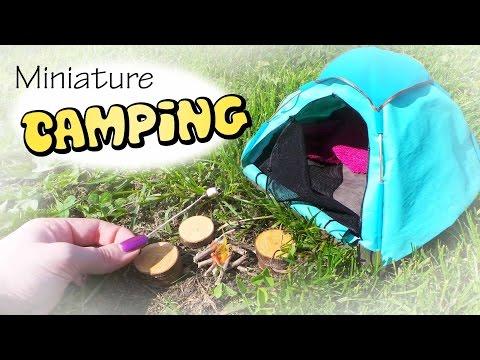 Miniature Camping; Tent & Campfire Tutorial // Dolls/Dollhouse