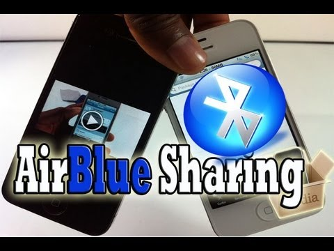 BLUETOOTH: Send & Receive Files Via Bluetooth iPhone, iPod Touch & iPad With  'AirBlue Sharing'