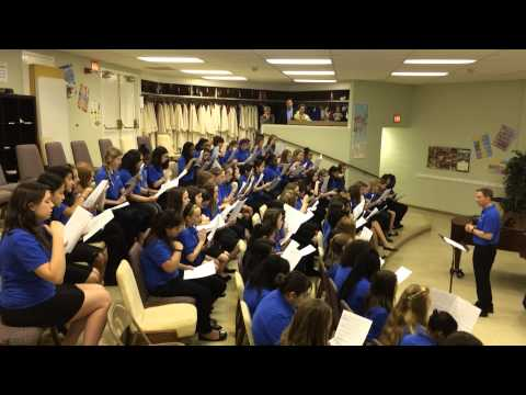 Sight Singing for Middle School 7th grade Girls LGPE Sight Singing Example