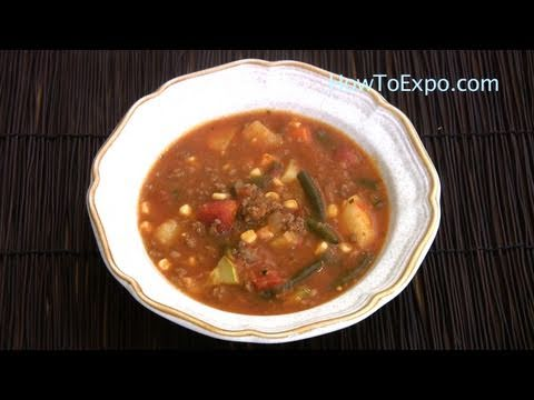Easy Homemade Vegetable Beef Soup