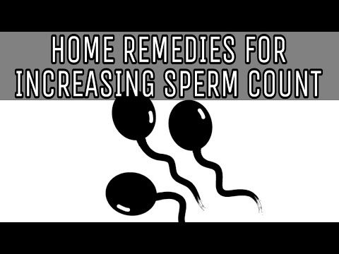 HOME REMEDIES FOR INCREASING SPERM COUNT