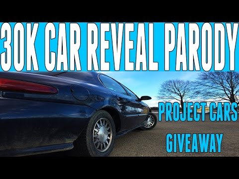 30,000 Subscriber Car Reveal Parody - Project Cars Giveaway!
