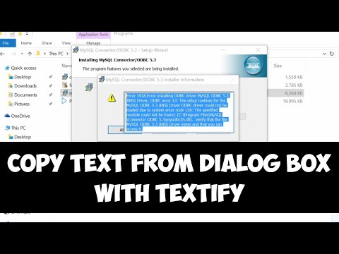 Copy text from dialog box on Windows with Textify