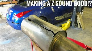 Custom Exhaust for the 350Z! Making The VQ Sound Good!?