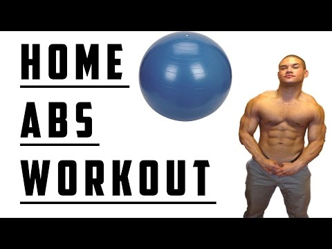 SIX PACK ABS HOME WORKOUT : EXERCISE BALL EDITION