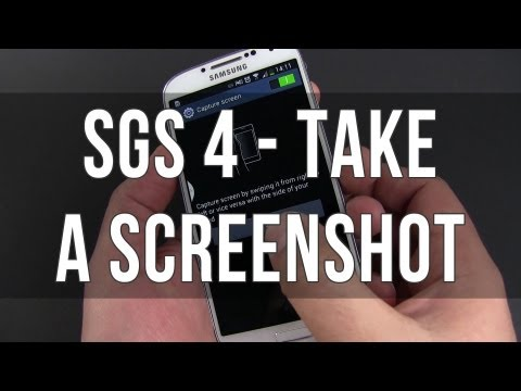 How to take a Screenshot on the Samsung Galaxy S4