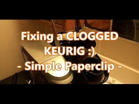Fixing a CLOGGED Keurig Coffee maker - Simple Paperclip Method -