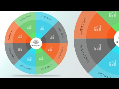 InfoGraphic Tutorial in Photoshop #27 – Colorful Circle Infographic