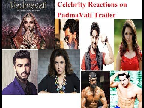 Celebrity Reactions on Padmavati Trailer Launch