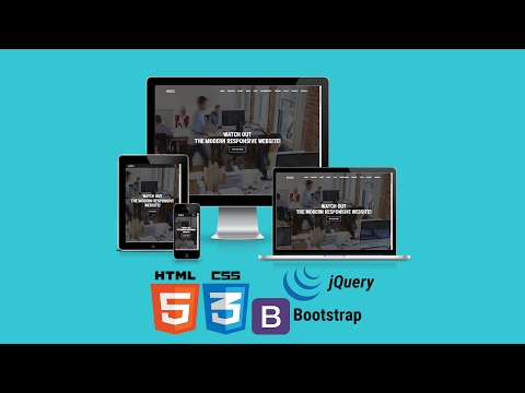 [#1]  Build Modern Responsive Website With HTML5, CSS3 & Bootstrap