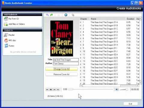 How to Convert Audiobook CDs for your iPod using Creator 2010