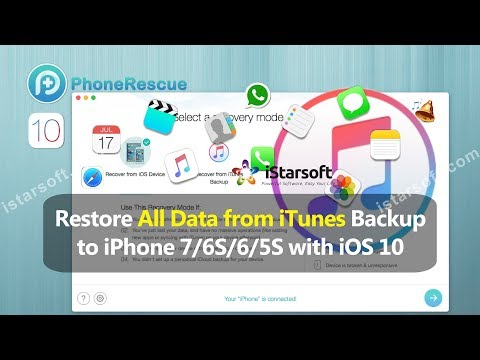 Restore All Data from iTunes Backup to iPhone 7/6S/6/5S with iOS 10