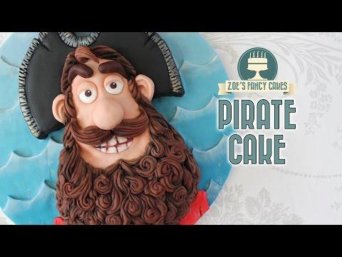 The Pirates cake : Pirate captain birthday cake