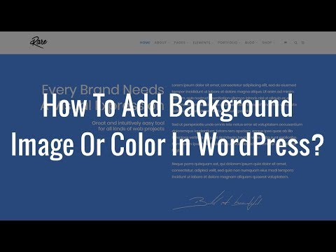 How To Add Background Image Or Color In WordPress?