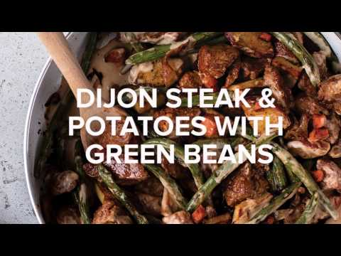 Dijon Steak and Potatoes with Green Beans